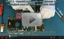 Wymiana układu graficznego w laptopie ASUS F3S