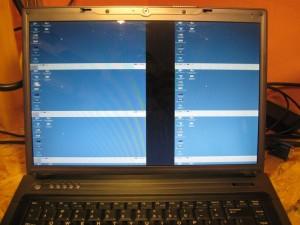 ekran podzielony na 6