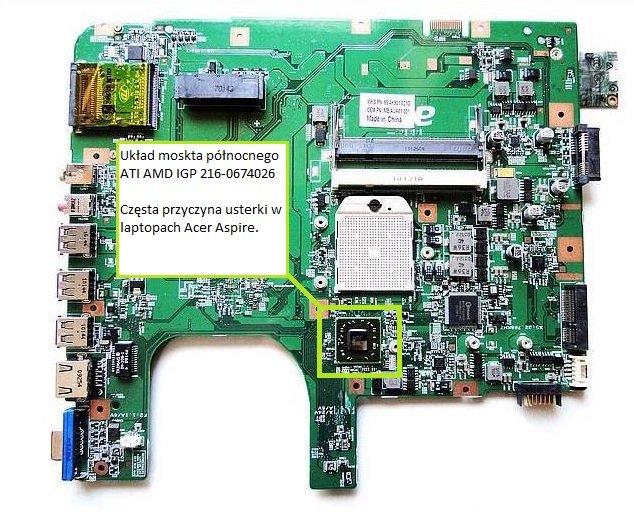 Acer Aspire 5532 5535g Brak Obrazu Naprawa Usterek Problemy Z