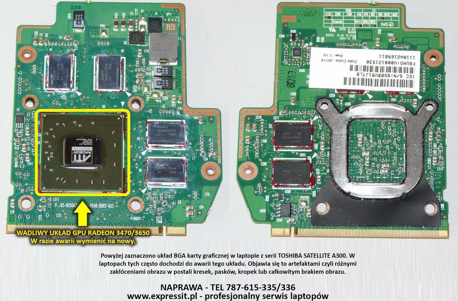 Toshiba Satellite A300 A350d A355d Brak Obrazu Nie Chce Sie