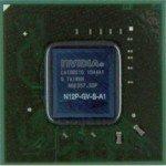 Układ BGA karty graficznej GeForce 315M. Model układu: N12P-GV-S-A1.