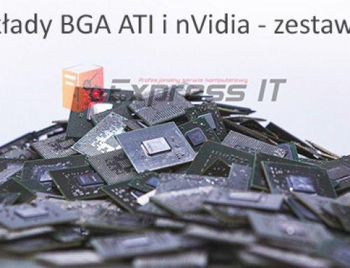 Lista wadliwych układów BGA ATI oraz lista wadliwych układów BGA nVidia – zestawienie 2014.