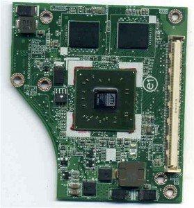 Karta graficzna z osobnym złączem do laptopa firmy TOSHIBA.