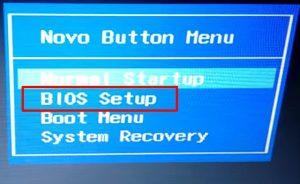 Wejście do BIOS w Lenovo G50.