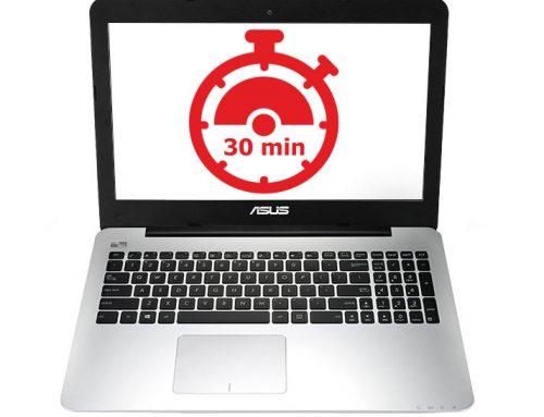 Laptop wyłącza się po 30 minutach, po 20 minutach, po 15 minutach, po 5 minutach lub w innych regularnych odstępach czasu.