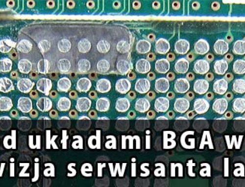 Czarny klej pod układami BGA w Lenovo i IBM. Czarna wizja serwisanta laptopów.