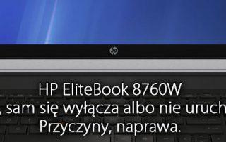 elitebook 8760w brak obrazu wyłącza się