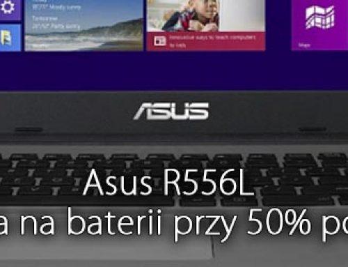 Asus R556L miga matryca na baterii przy 50% podświetlenia