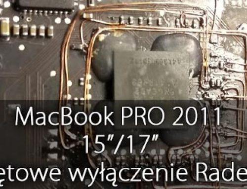 MacBook PRO 2011 15″/17″ – całkowite wyłączenie grafiki Radeon, naprawa