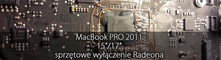 macbook pro wyłączenie Radeona