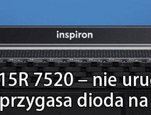 DELL INSPIRON 15R 7520 – nie uruchamia się, brak zasilania, przygasa dioda na zasilaczu.