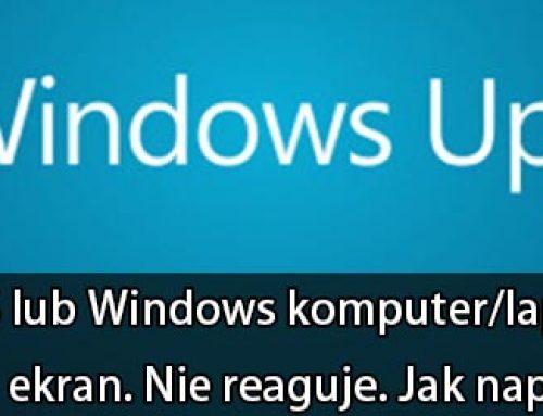 Po aktualizacjach komputer/laptop nie włącza się. Czarny ekran. Nie reaguje. Jak naprawić?